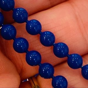 Petite Glass cobalt blue bead individually knotted